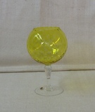 Yellow Globe Art Glass