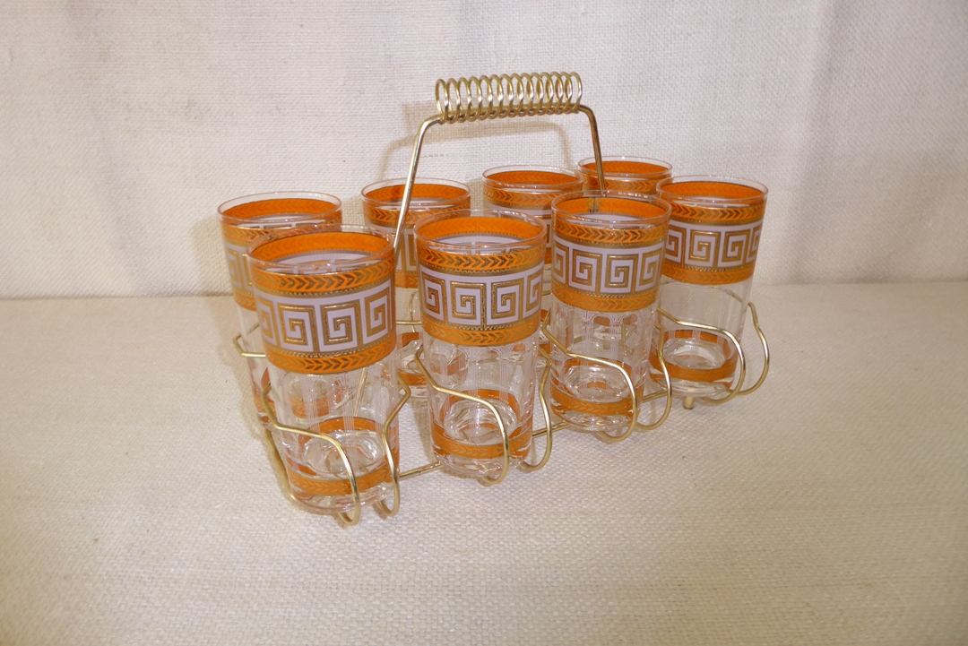 Culver Greek Key Glasses