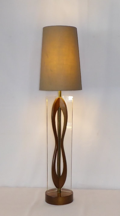 Lucite Dividers Table Lamp