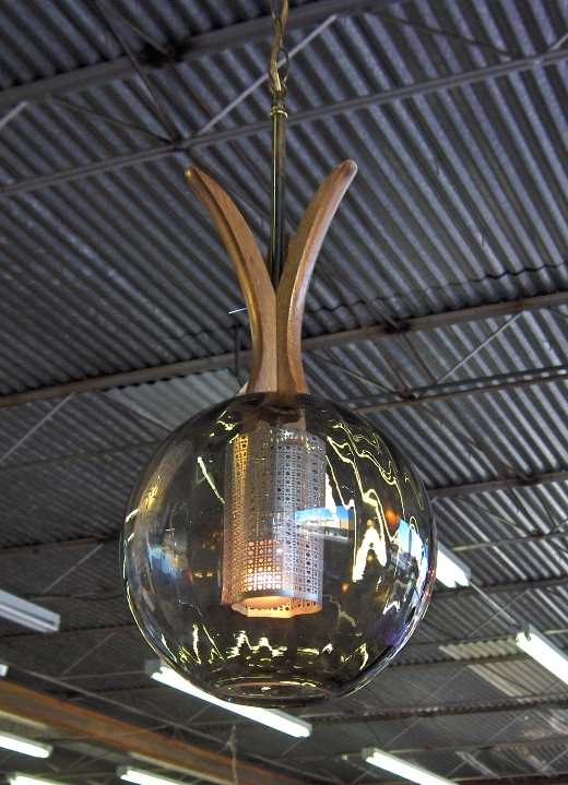 Danish Modern Ball Lamp