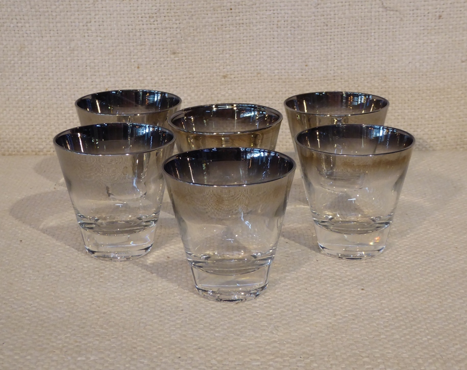 Silver Fade Shot Glasses
