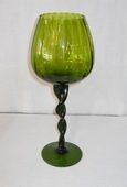 Glass Ribbed Bowl Vase