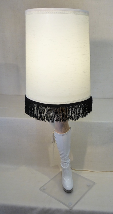 Leg Lamp on Lucite Base