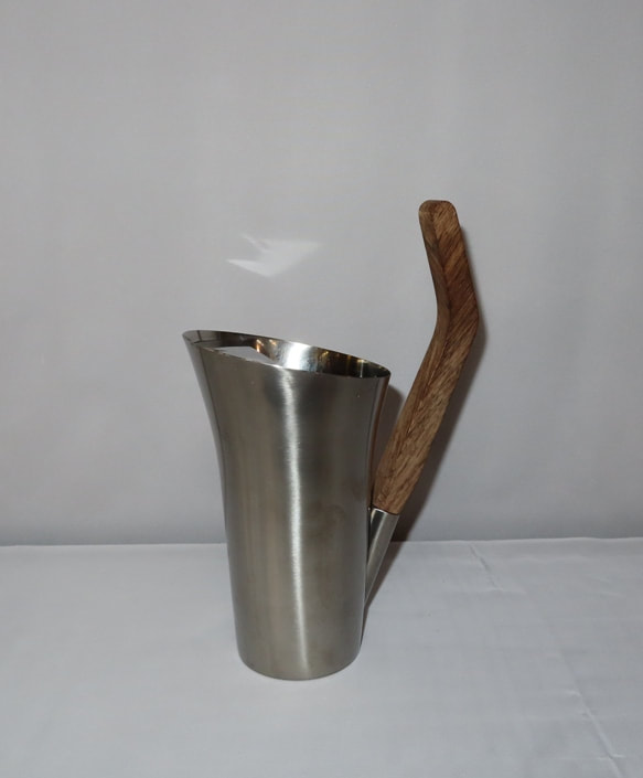 Stainless Pitcher Teak Handle