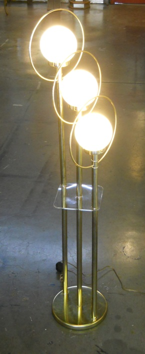 Floor Lamp Rings Glass Bulb Shade