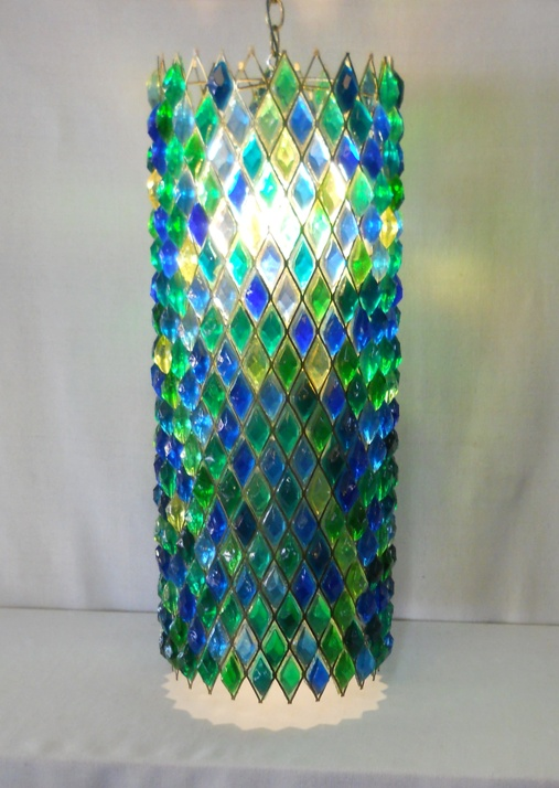 Swag Lamp Acrylic Crystals