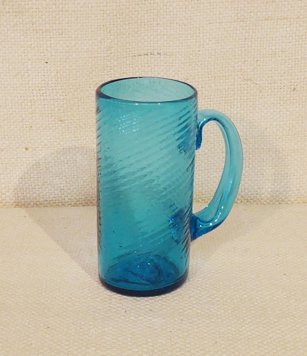 Blenko Blue Chimney Mug