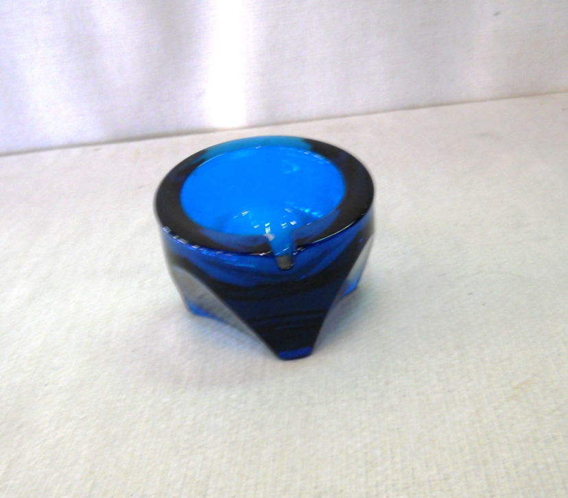 Cobalt Viking Orb Ashtray