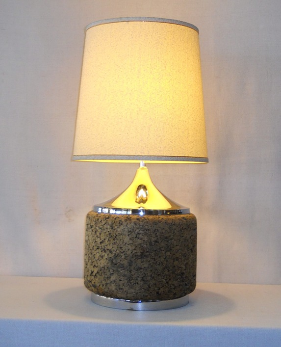 Cork & Chrome Lamp
