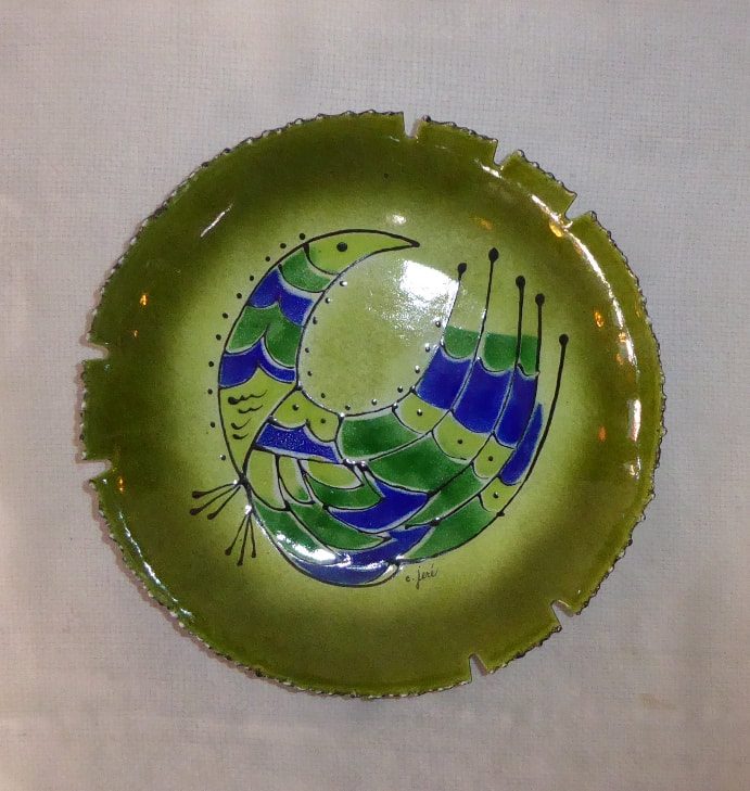 Enamel Ashtray C. Jere