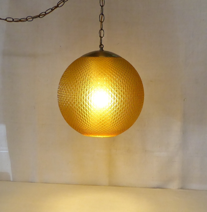 Glass Sphere Swag Lamp