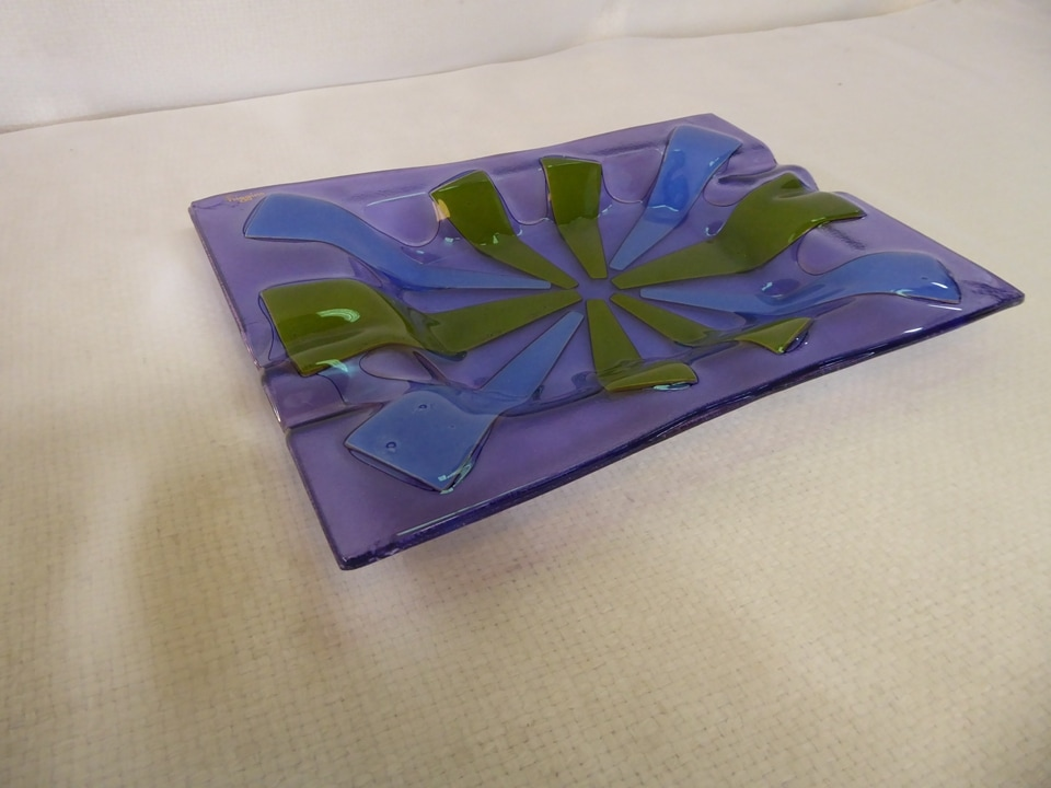 Higgins Purple Ashtray