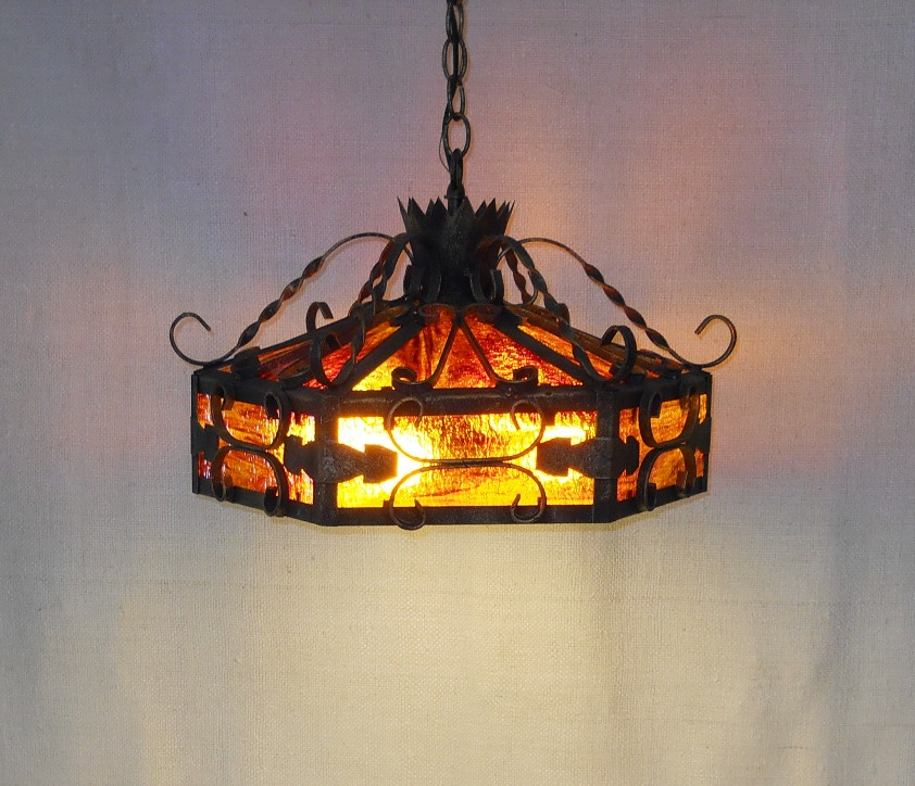 Cast Iron Swag Lamp