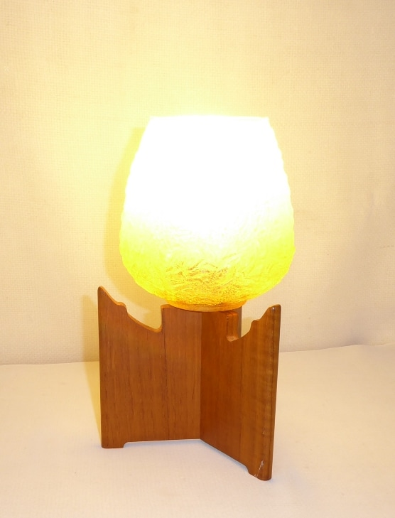 Small Danish Teak Lamp