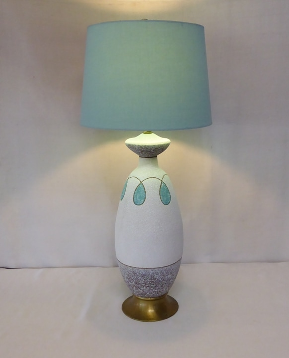 Modernist Turquoise Lamp