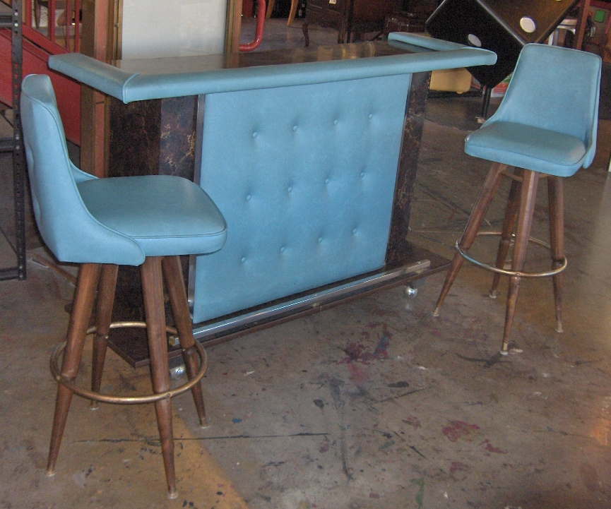 Mid-Mod Turquoise Bar