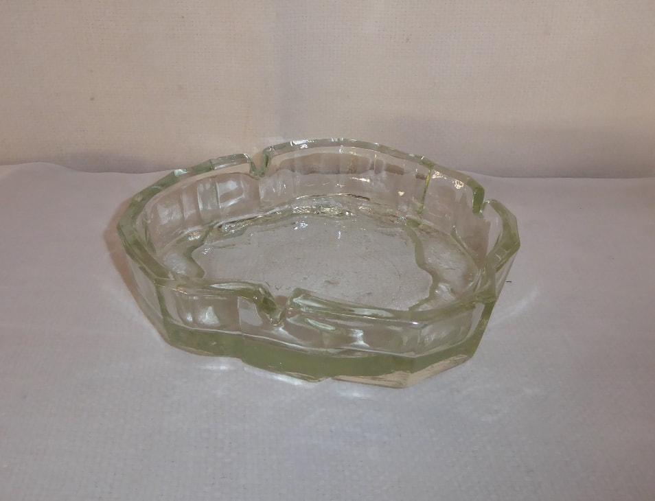 Modernist Ice Glass Ashtray