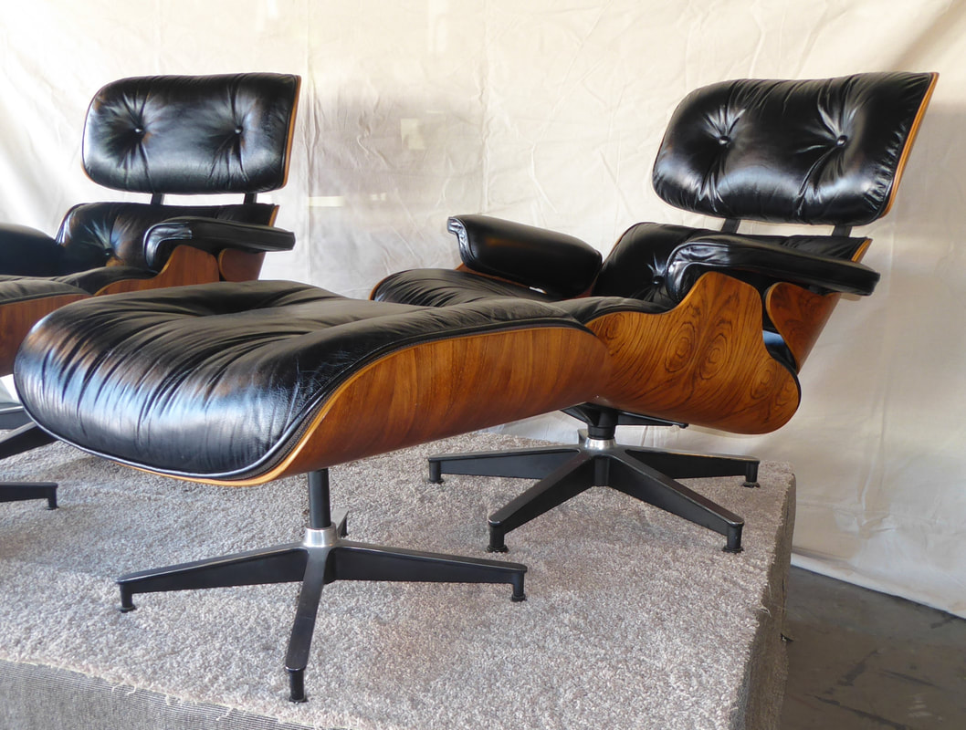 Pair Eames Rosewood Chairs