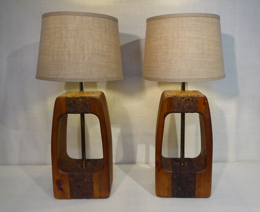 Danish Modern Cork Lamps
