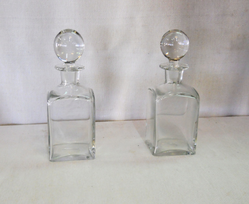 Crystal Decanters Pair