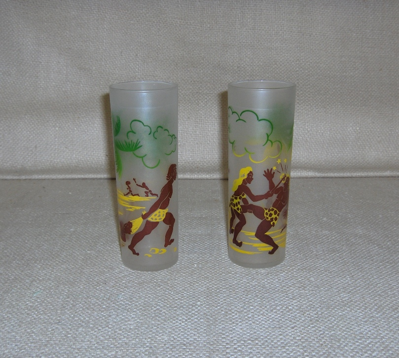 Tiki Caveman Glasses