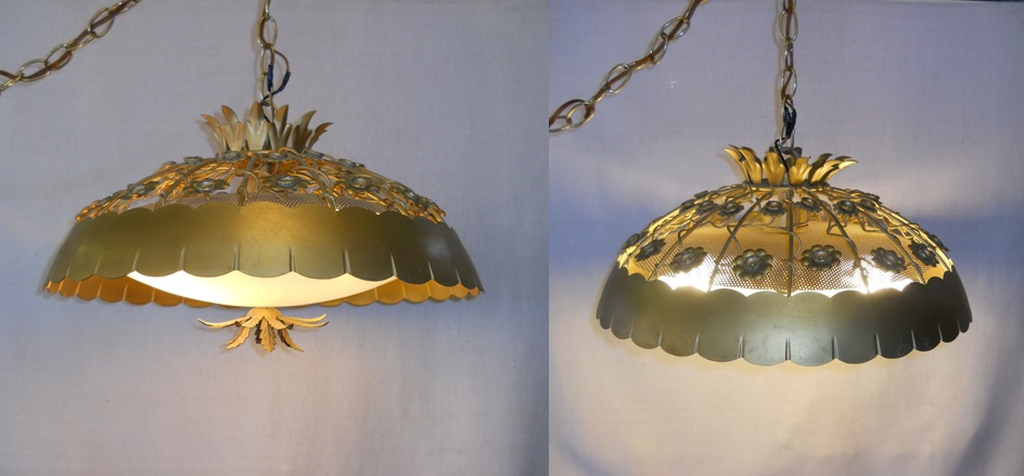 Flower Metal Swag Lamps