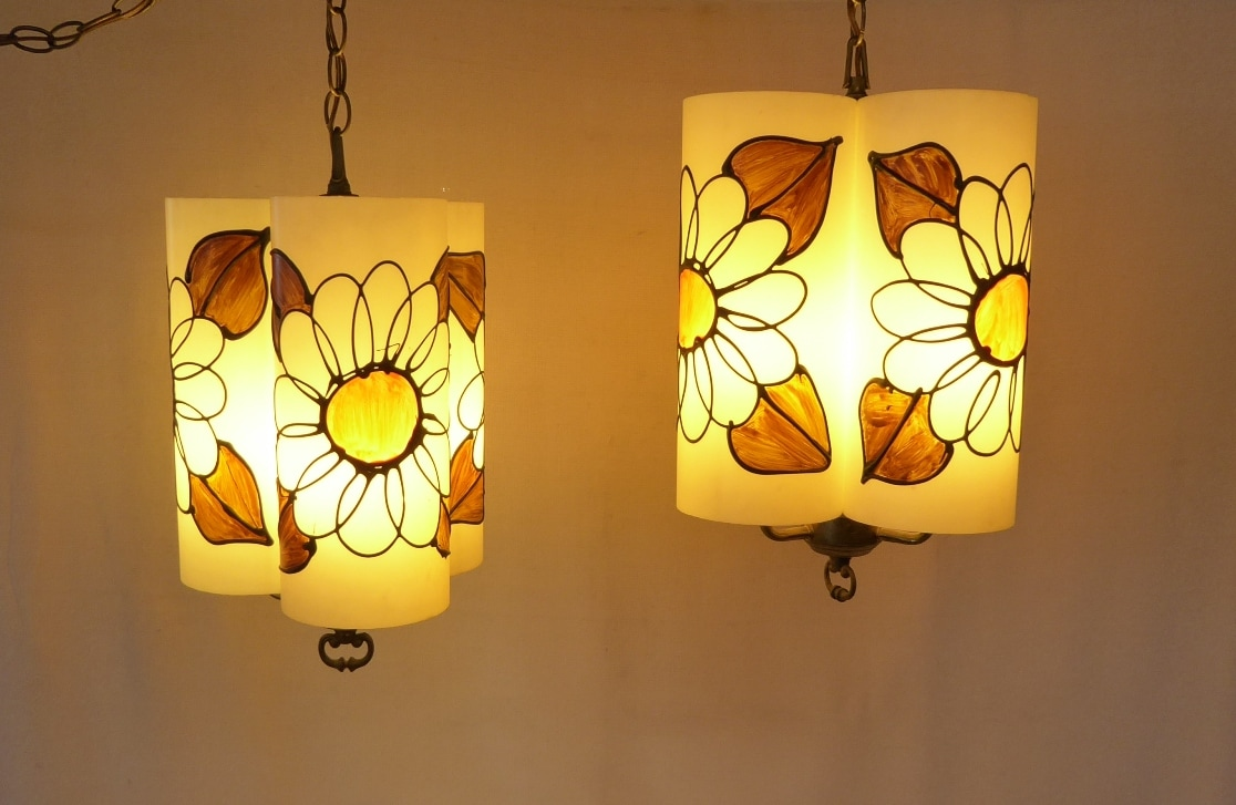 Flower Power Swag Lamps