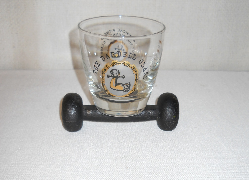 Vintage Barbell Glass