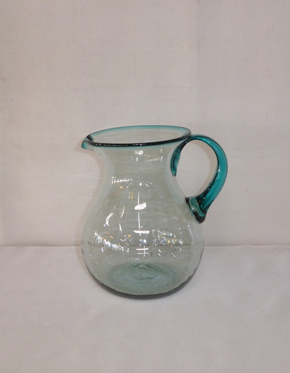 Blenko pitcher applied handle