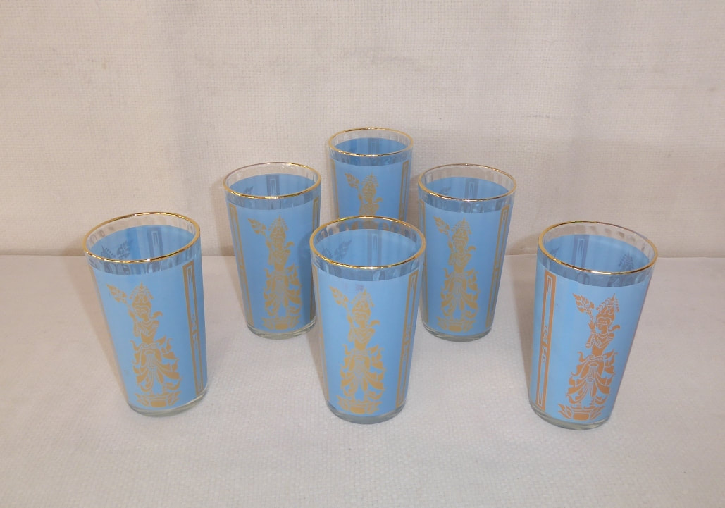 Blue Thai Goddess Glasses