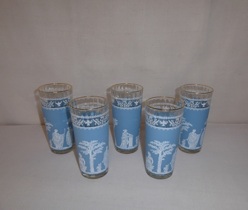 Blue Hellenic Collins Glasses