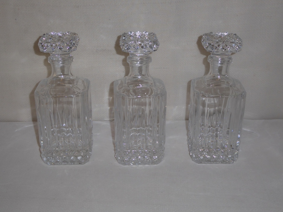 Crystal Decanters Set of 3