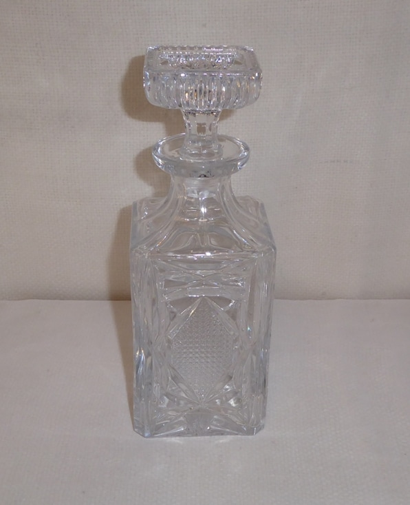 Crystal Decanter Square Top