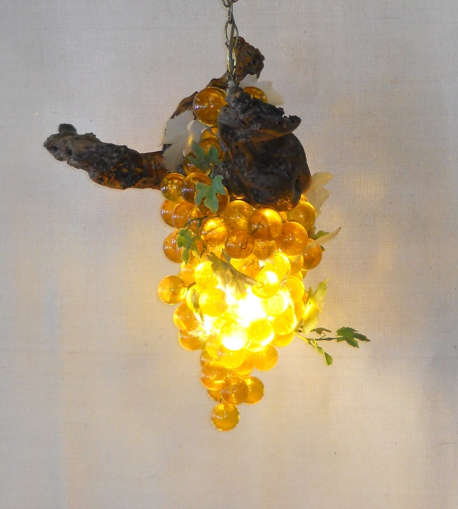 Acrylic Grapes Swag Lamp