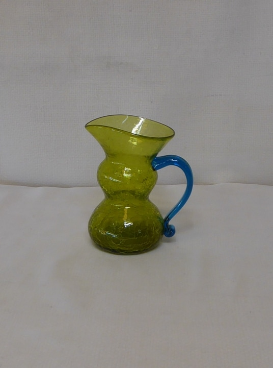 Crackle Glass Mini Pitcher