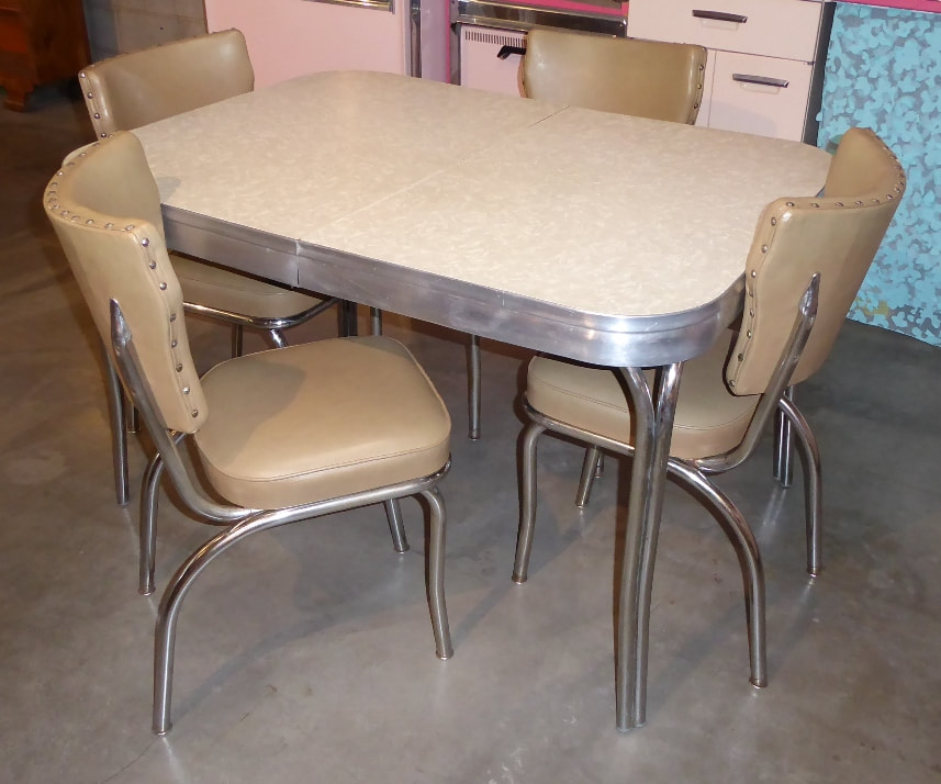 Grey Ice Chrome Dinette Set
