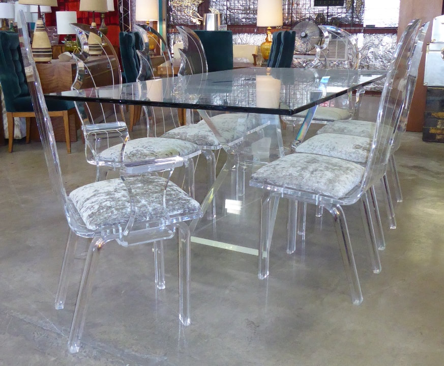 Lucite Formal Dining Set