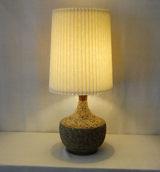 Cork and Walnut Lamp