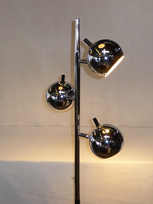 Chrome Orb/Ball Floor Lamp
