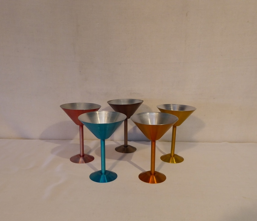 Anodized Aluminum Martini