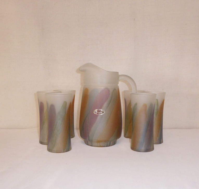 Pitcher Amisco Art Glass