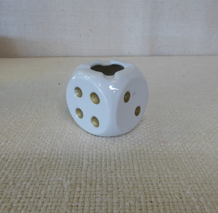 Porcelain Dice Ashtray