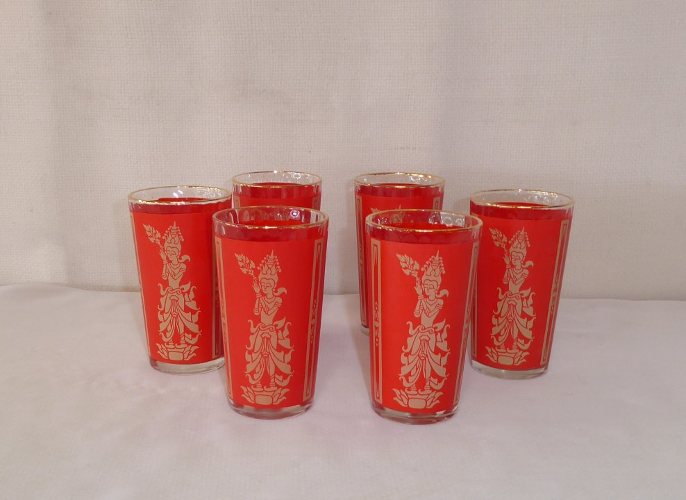 Red Thai Goddess Glasses
