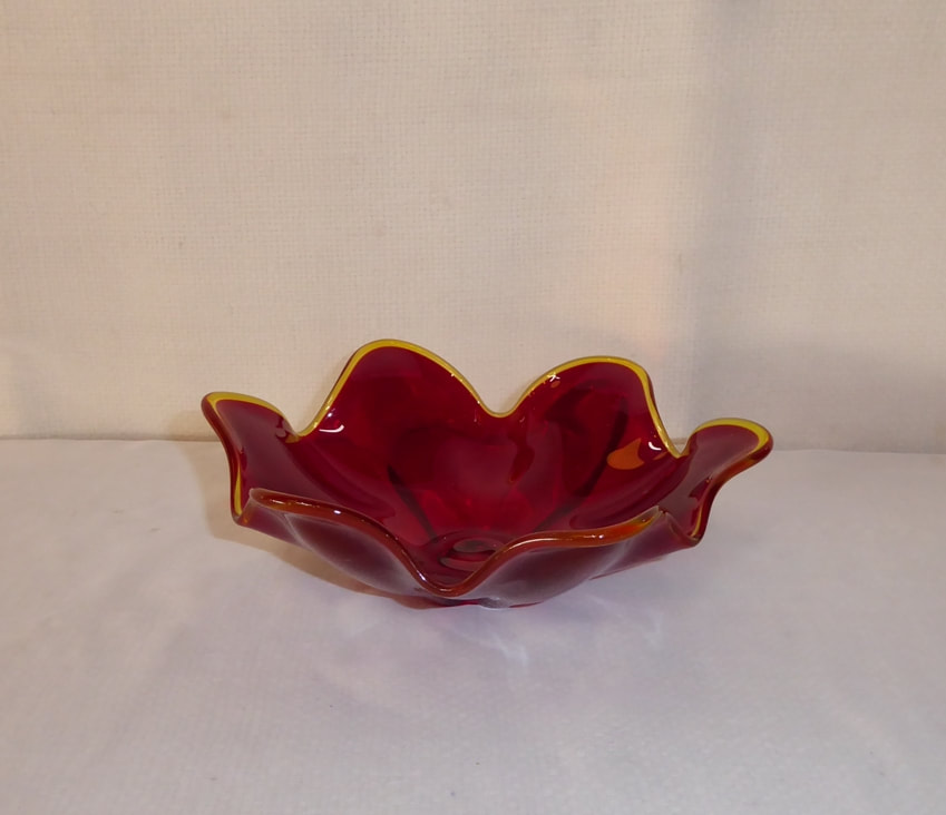 Ruby Red Candy Dish