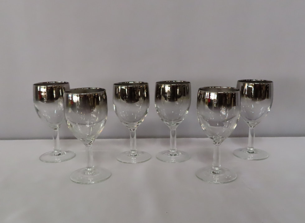 Silver Fade Red Wine Goblets